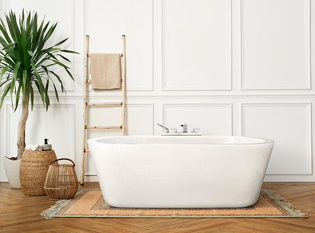 Bathroom with minimal styling Pic: Shutterstock