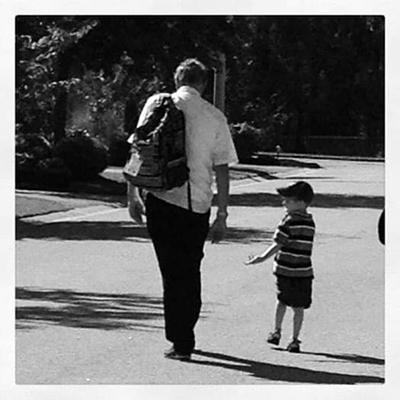 Tony and grandson