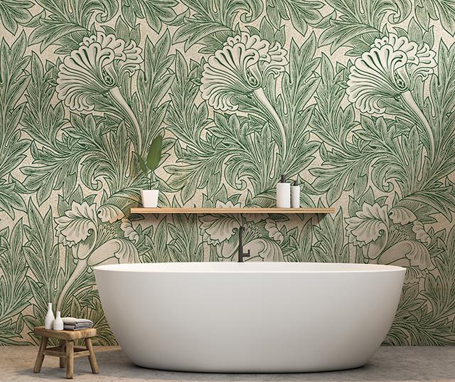 William Morris Green Wallpaper