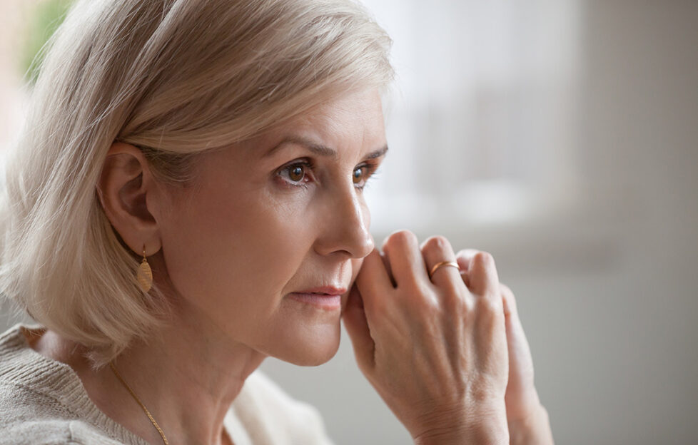 Lady looking worried Pic: Shutterstock