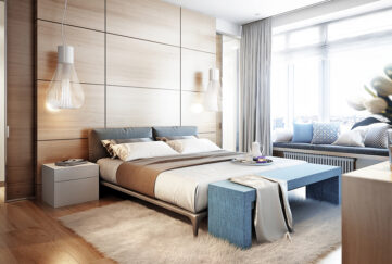 A beautiful bedroom using neutral colours and texture Pic: Shutterstock