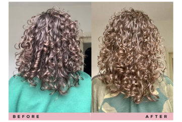 Sotira's hair, before and after