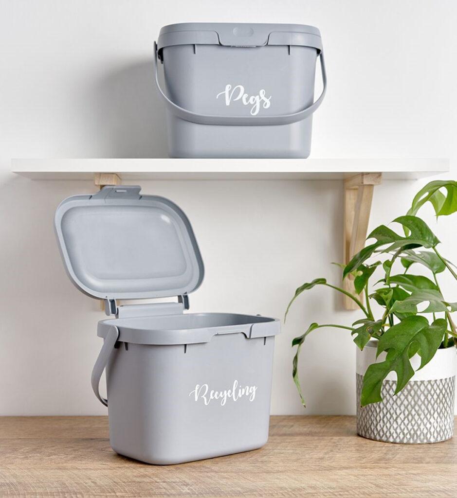 Recycling bin and peg bin