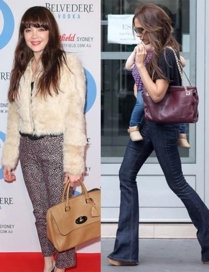 Celebrity oversized bags