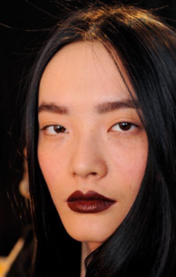 Vampy red lipstick
