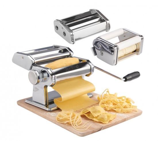 VonShef 3 in 1 Stainless Steel Pasta Maker