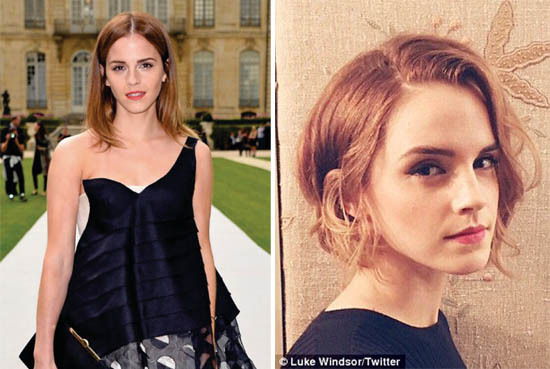 emma watson before and after hair