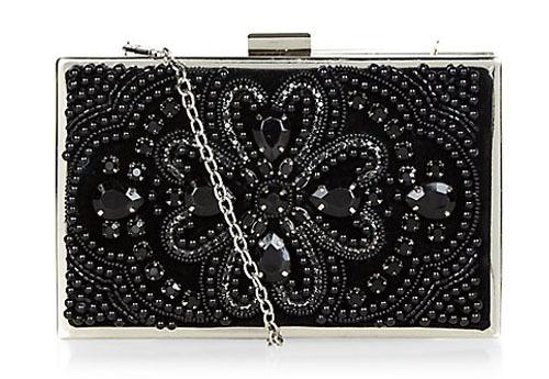 new look embellished clutch bag