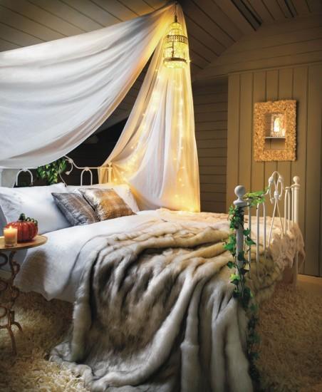fur quilt bed