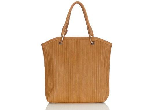 Tan Ribbed Bag