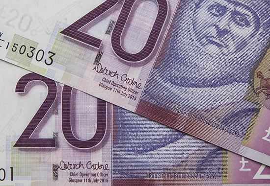 Debbie Crosbie, Chief Operating Officer, Clydesdale and Yorkshire Banks, is the first woman to sign a Scottish banknote. The £20 notes are a reprint of the design launched in 2009 which feature the iconic images of the historic mill house at New Lanark on one side and Robert the Bruce, King of Scotland, on the other. Picture Robert Perry 25th Nov 2015 Must credit photo to Robert Perry Image is free to use in connection with the promotion of the above company or organisation. 'Permissions for ALL other uses need to be sought and payment make be required. Note to Editors: This image is free to be used editorially in the promotion of the above company or organisation. Without prejudice ALL other licences without prior consent will be deemed a breach of copyright under the 1988. Copyright Design and Patents Act and will be subject to payment or legal action, where appropriate. www.robertperry.co.uk NB -This image is not to be distributed without the prior consent of the copyright holder. in using this image you agree to abide by terms and conditions as stated in this caption. All monies payable to Robert Perry (PLEASE DO NOT REMOVE THIS CAPTION) This image is intended for Editorial use (e.g. news). Any commercial or promotional use requires additional clearance. Copyright 2015 All rights protected. first use only contact details Robert Perry 07702 631 477 robertperryphotos@gmail.com Robert Perry reserves the right to pursue unauthorised use of this image . If you violate my intellectual property you may be liable for damages, loss of income, and profits you derive from the use of this image.