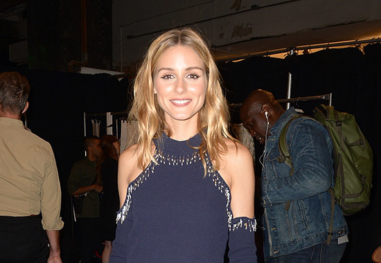 NEW YORK, NY - SEPTEMBER 10: Olivia Palermo poses backstage at the Jonathan Simkhai fashion show during New York Fashion Week: The Shows at The Arc, Skylight at Moynihan Station on September 10, 2016 in New York City. (Photo by Gustavo Caballero/Getty Images for New York Fashion Week: The Shows)