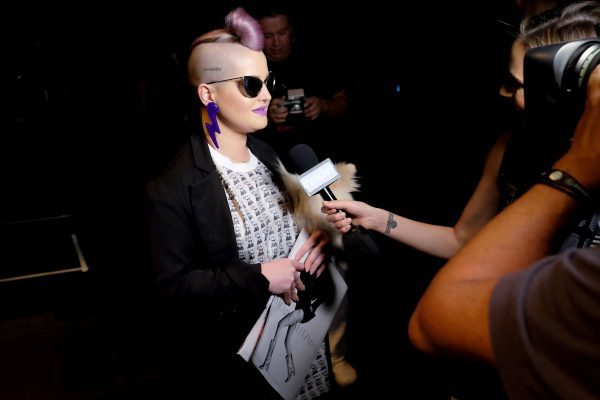 NEW YORK, NY - SEPTEMBER 12: Kelly Osborne attends the Jeremy Scott fashion show during New York Fashion Week: The Shows at The Arc, Skylight at Moynihan Station on September 12, 2016 in New York City. (Photo by Nicholas Hunt/Getty Images for New York Fashion Week: The Shows)