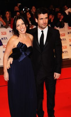 LONDON, ENGLAND - JANUARY 20: Big Brother Davina McCall and husband Matthew Robertson arrive at the National Television Awards held at O2 Arena on January 20, 2010 in London, England. (Photo by Ian Gavan/Getty Images)