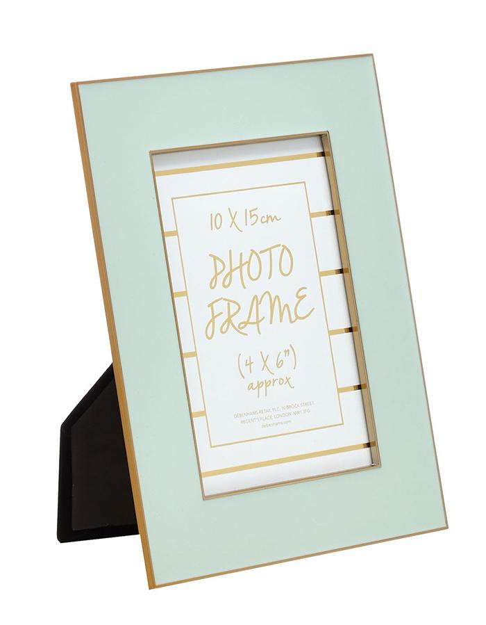 Debenhams turquoise photo frame