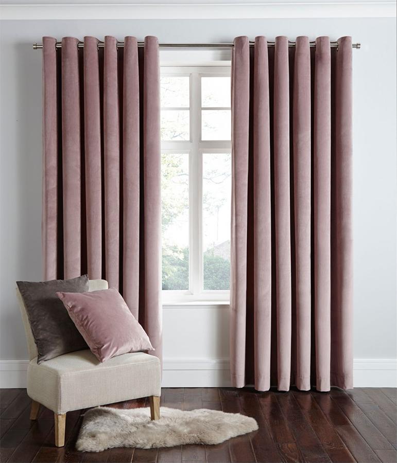 Debenhams pink curtains