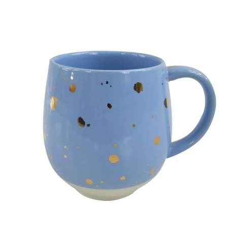 Dunelm blue and gold mug
