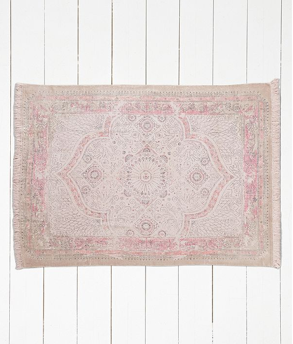 Urban Outfitters pink rug