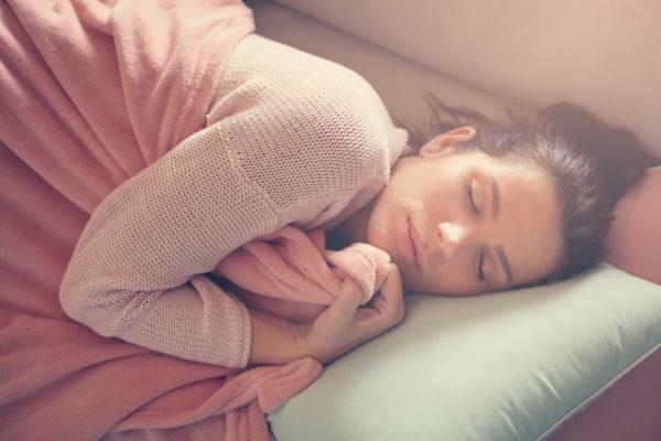 woman sleeping in sun