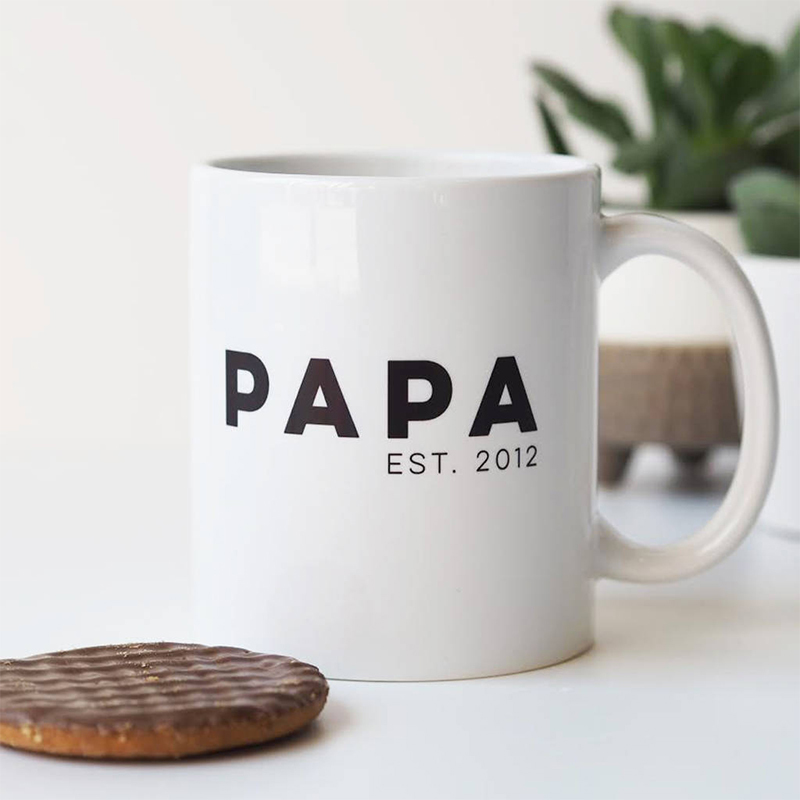 Father's Day Gift Ideas For Your Stylish Dad - Personalised Mug