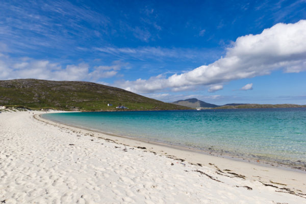 A beautiful view of the beach of Vatersay (Outer Hebrides). One of the best beaches in Scotland