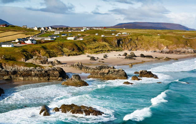 Sango Bay beach at Durness one of Scotland's stunning North Atlantic beaches located in the northwest Scottish Highlands. One of the best beaches in Scotland.