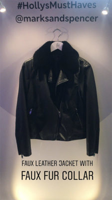 Holly Willoughby's Marks and Spencer leather jacket