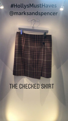 Holly Willoughby's marks and spencer edit - checked skirt