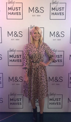 Holly Willoughby's Marks and Spencer Edit - leopard print dress