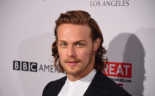 Sam Heughan long hair