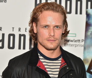 Sam Heughan striped top