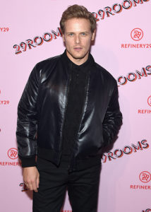 Sam Heughan leather jacket
