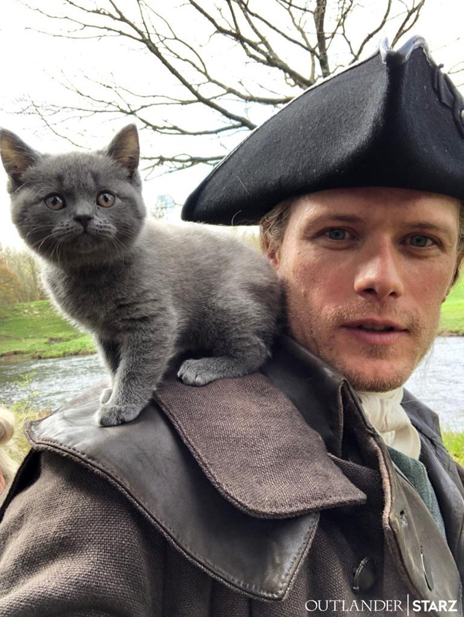 sam heughan picture cat