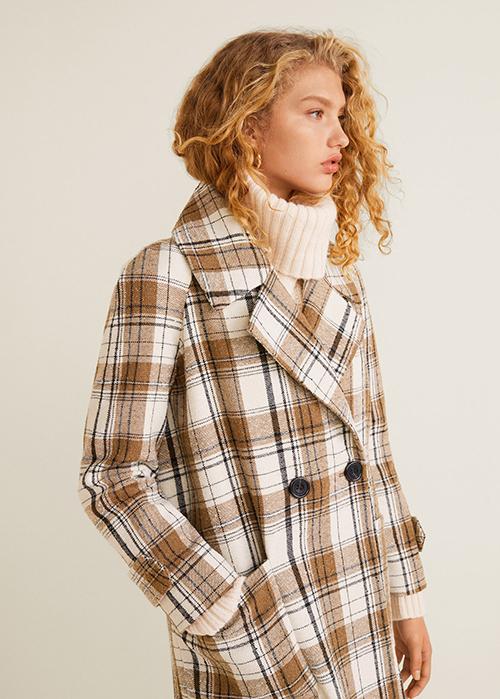 Check coat Mango