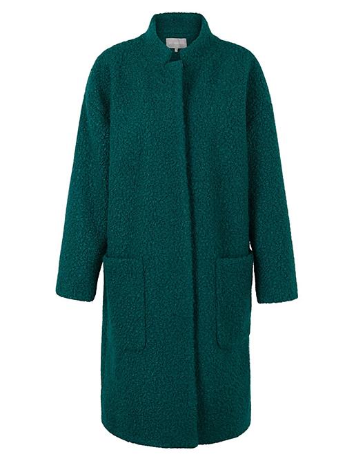 Emereld green funnel coat Oliver Bonas