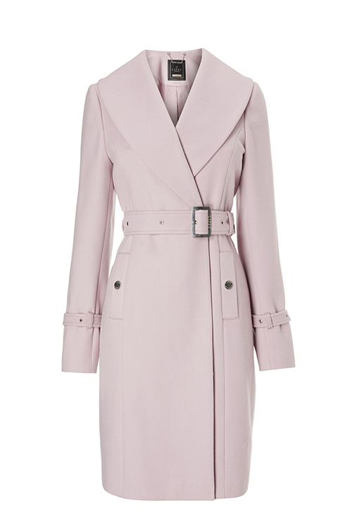 Pale pastel pink lilac belted coat Lipsy at Next