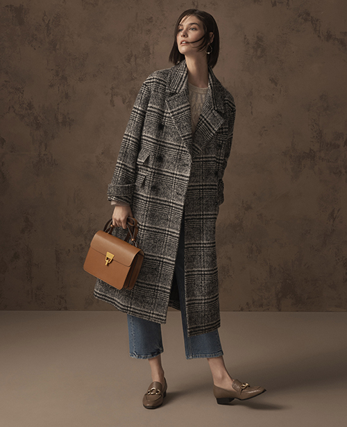 Wool blend check coat Limited Edition at M&S