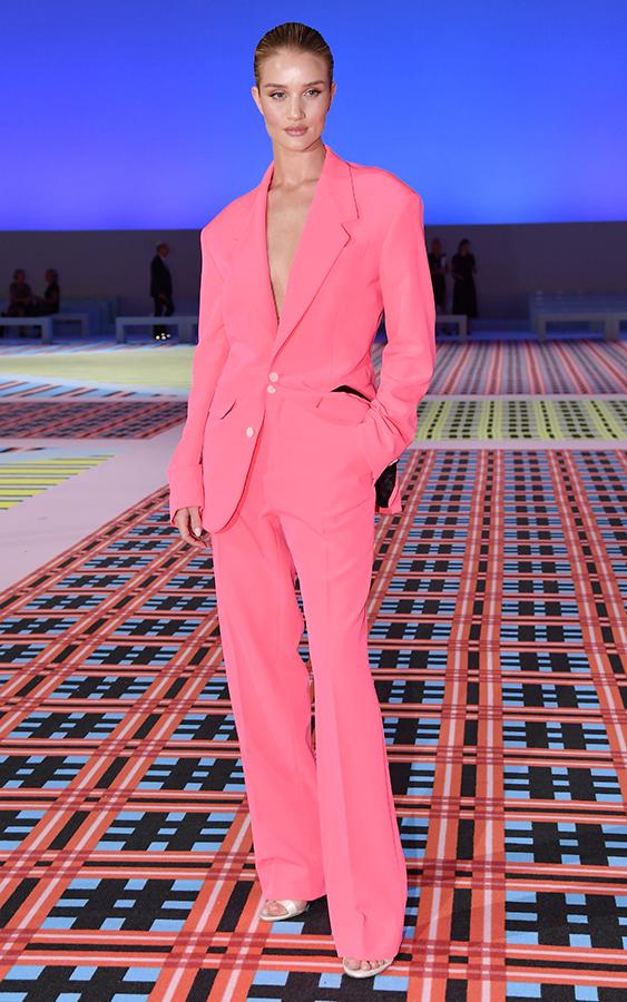 Rosie Huntington-Whiteley pink suit