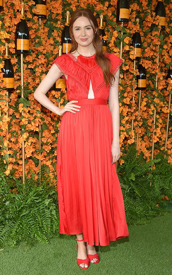 Karen Gillan red dress