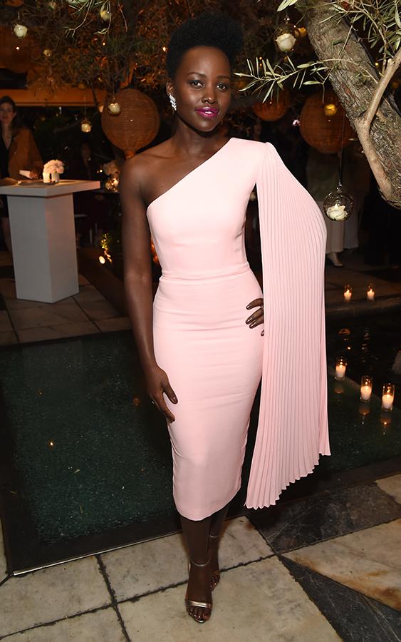 Lupita Nyong'o pink dress
