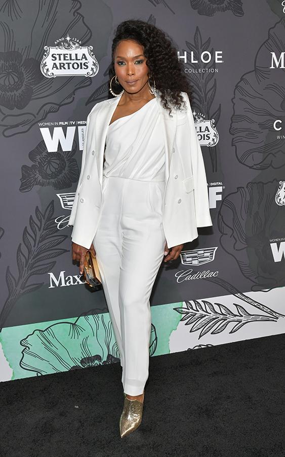 Angela Bassett white suit