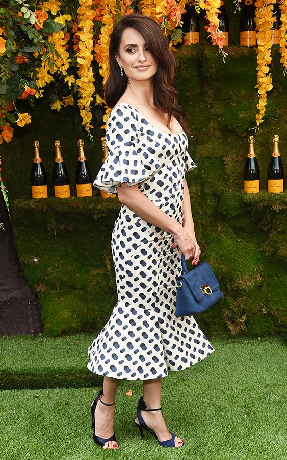 Penelope Cruz polka dot dress