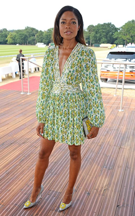 Naomie Harris green dress