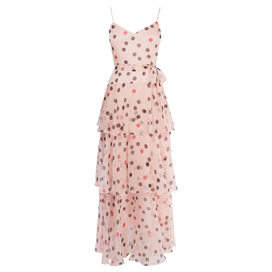 Karen Millen pink spot dress