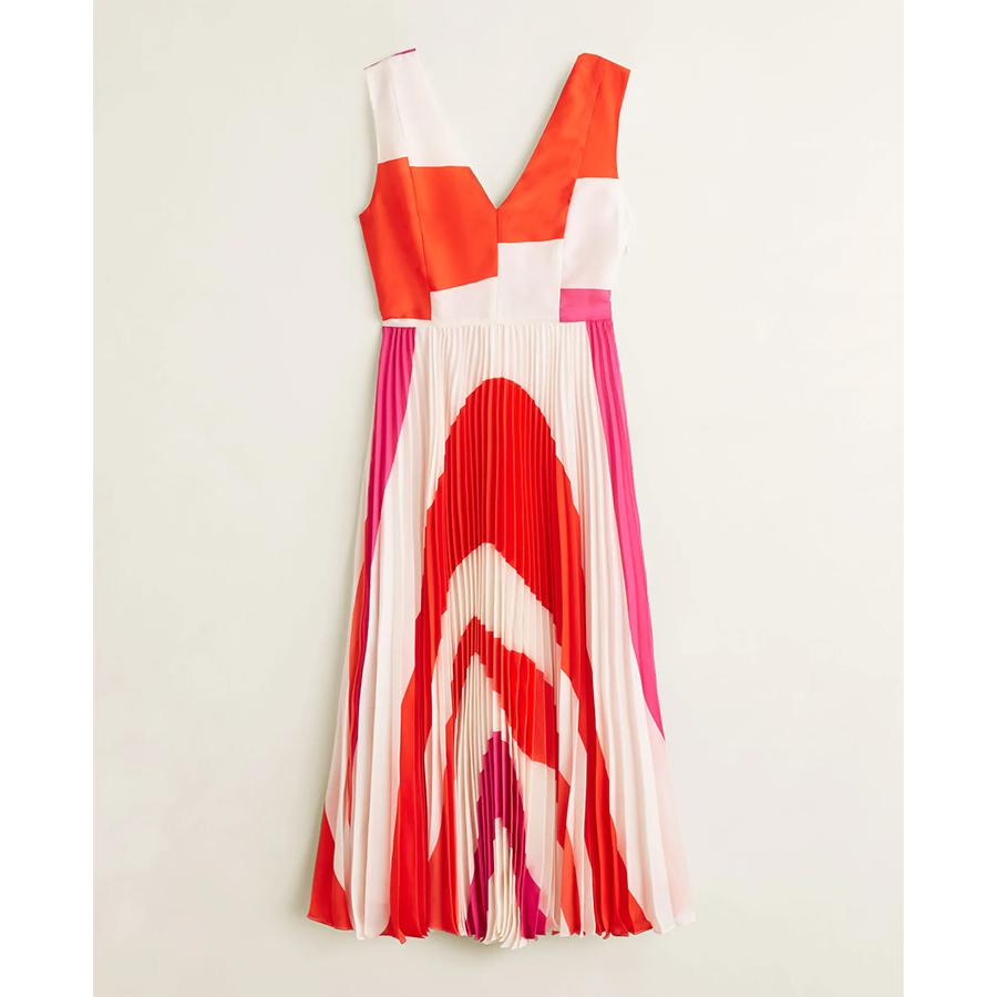 Mango red print dress