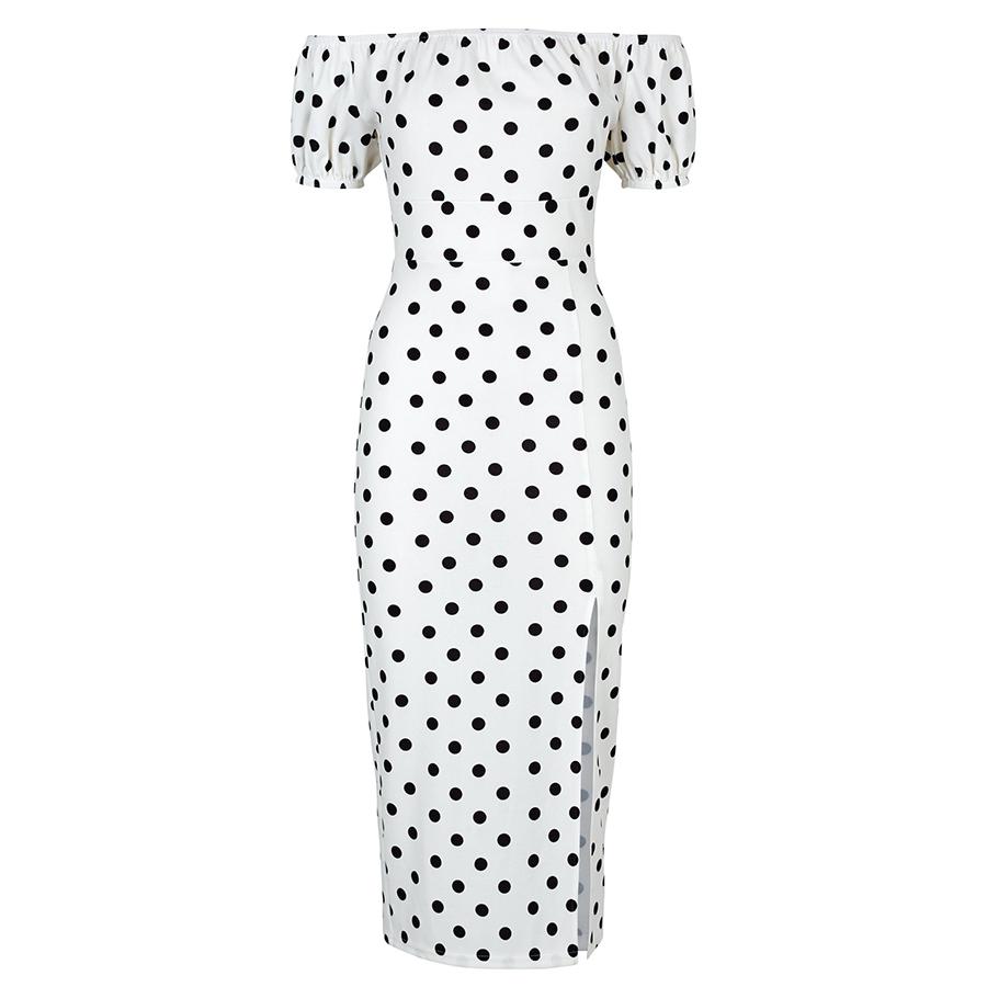 New Look spot bardot dress