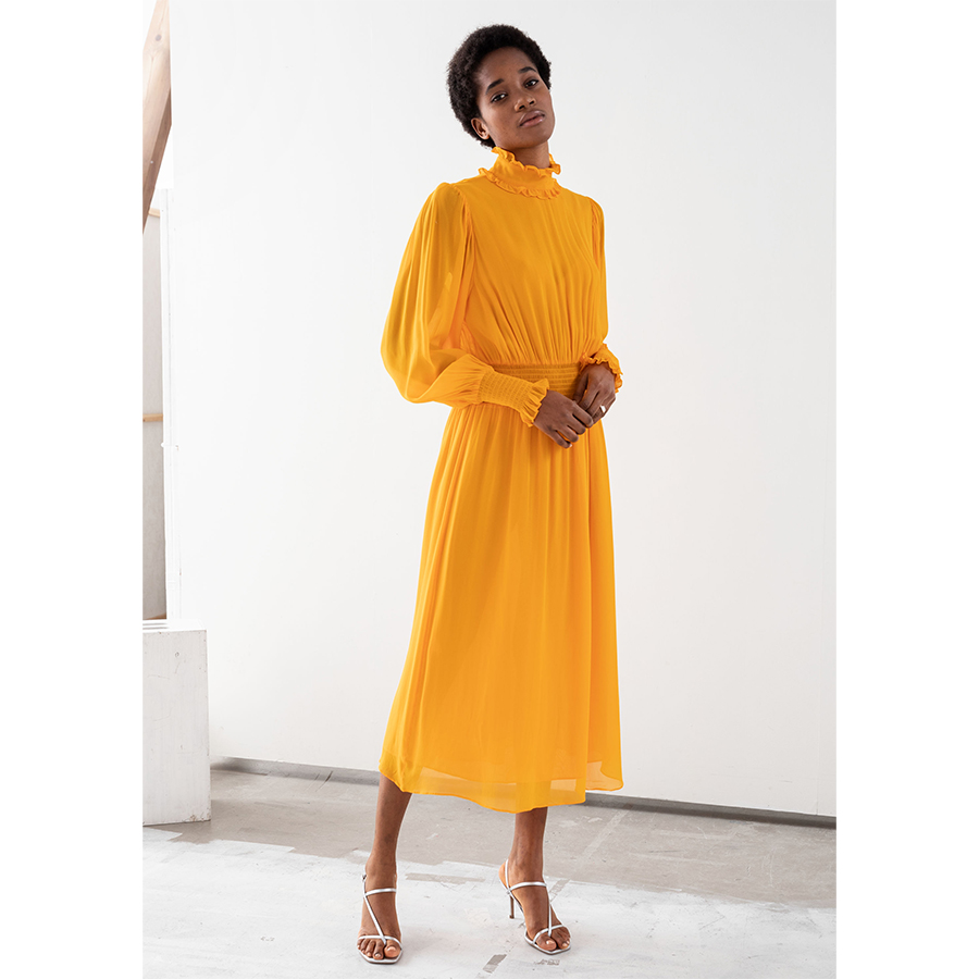 & Other Stories yellow dress
