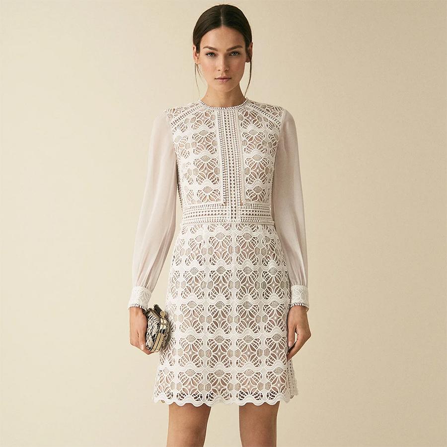 White Reiss dress
