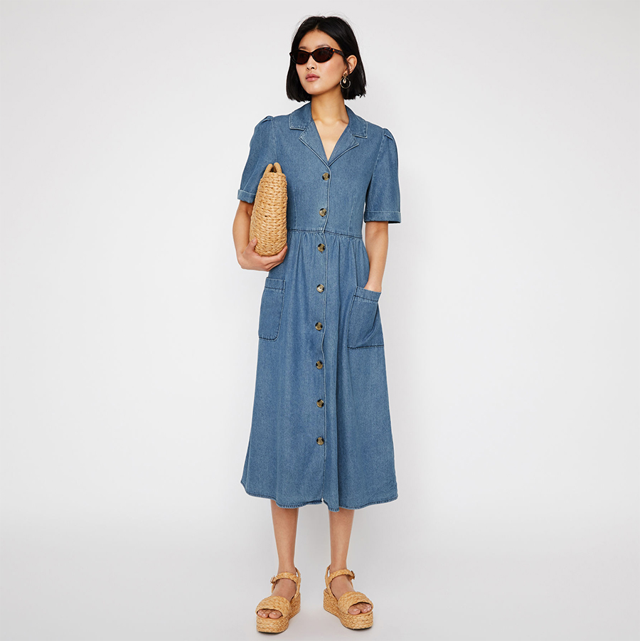 Warehouse denim dress