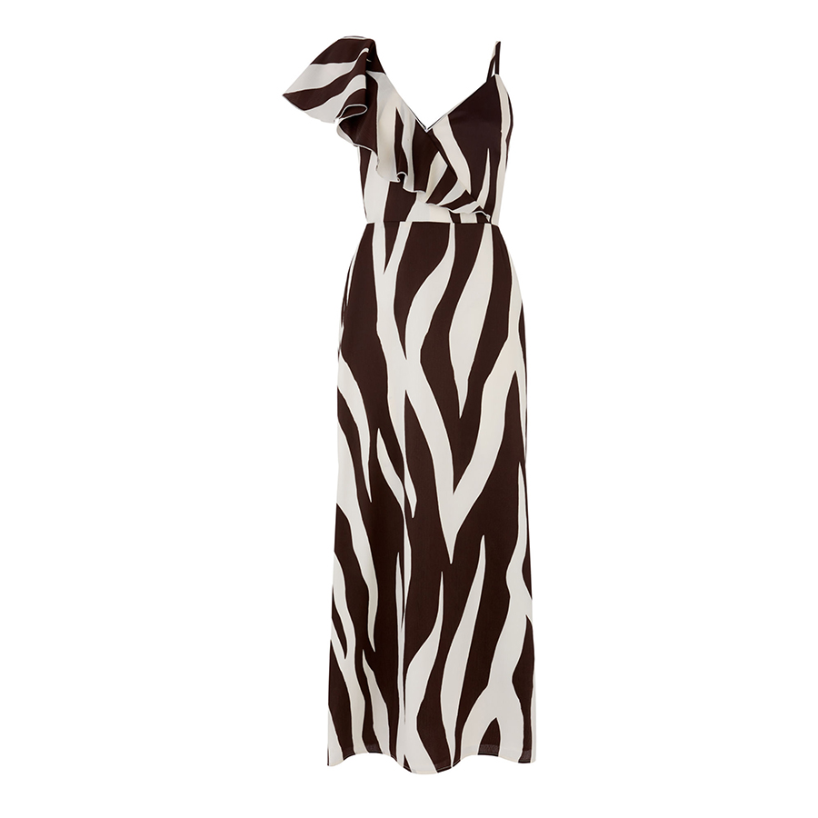 Warehouse zebra dress